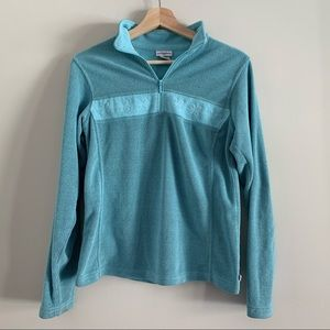 4/$20 quarter zip blue waffle pullover size s